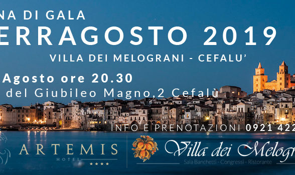 Ferragosto 2019 Cena di Gala Villa dei Melograni Cefalù